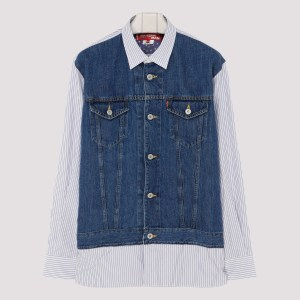 Junya Watanabe - Levis Edition Striped Shirt A - (a) Clothing Xxs@l