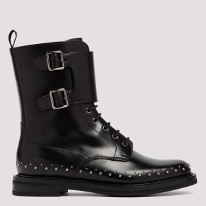 Church`s - Stefy Met Black Leather Monk Boots 38