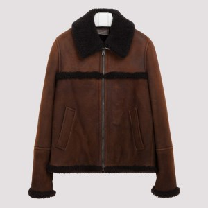 Prada - Dark Brown Shearling Jacket 48
