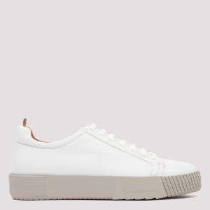 Giorgio Armani - White Deer Leather Sneakers 6