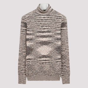 Missoni - Beige And Brown Turtleneck Sweater 38