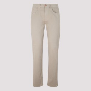 Giorgio Armani - Beige Stretch Cotton Pants 32