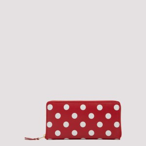 Comme Des Garcons - Red Polka Dot Long Wallet Unica