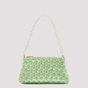 Shrimps - Smoke Green Dawson Flower Beaded Handle Bag Unica