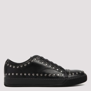 Lanvin - Black Dbb1 Leather Studded Sneakers 43