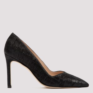 Stuart Weitzman - Anny Black Leather 95 Pumps 39