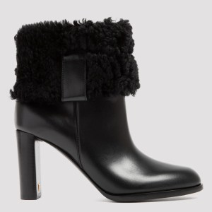 Tom Ford - Black Shearling Booties 36