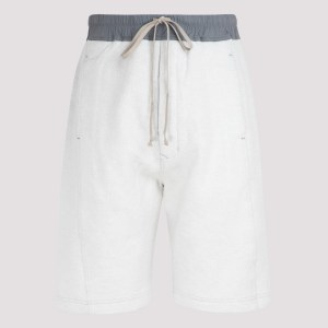 Rick Owens Drk Shdw - Pusher Off-white And Gray Sweat Shorts S