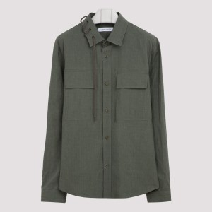 Craig Green - Olive Cotton Laced Shirt S