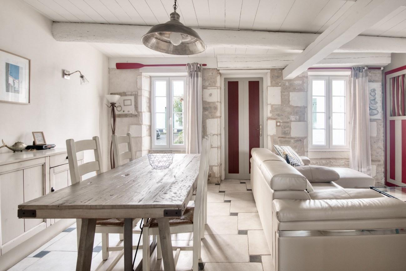 Location Maison Ile de Ré - Salicorne - Pièce de vie