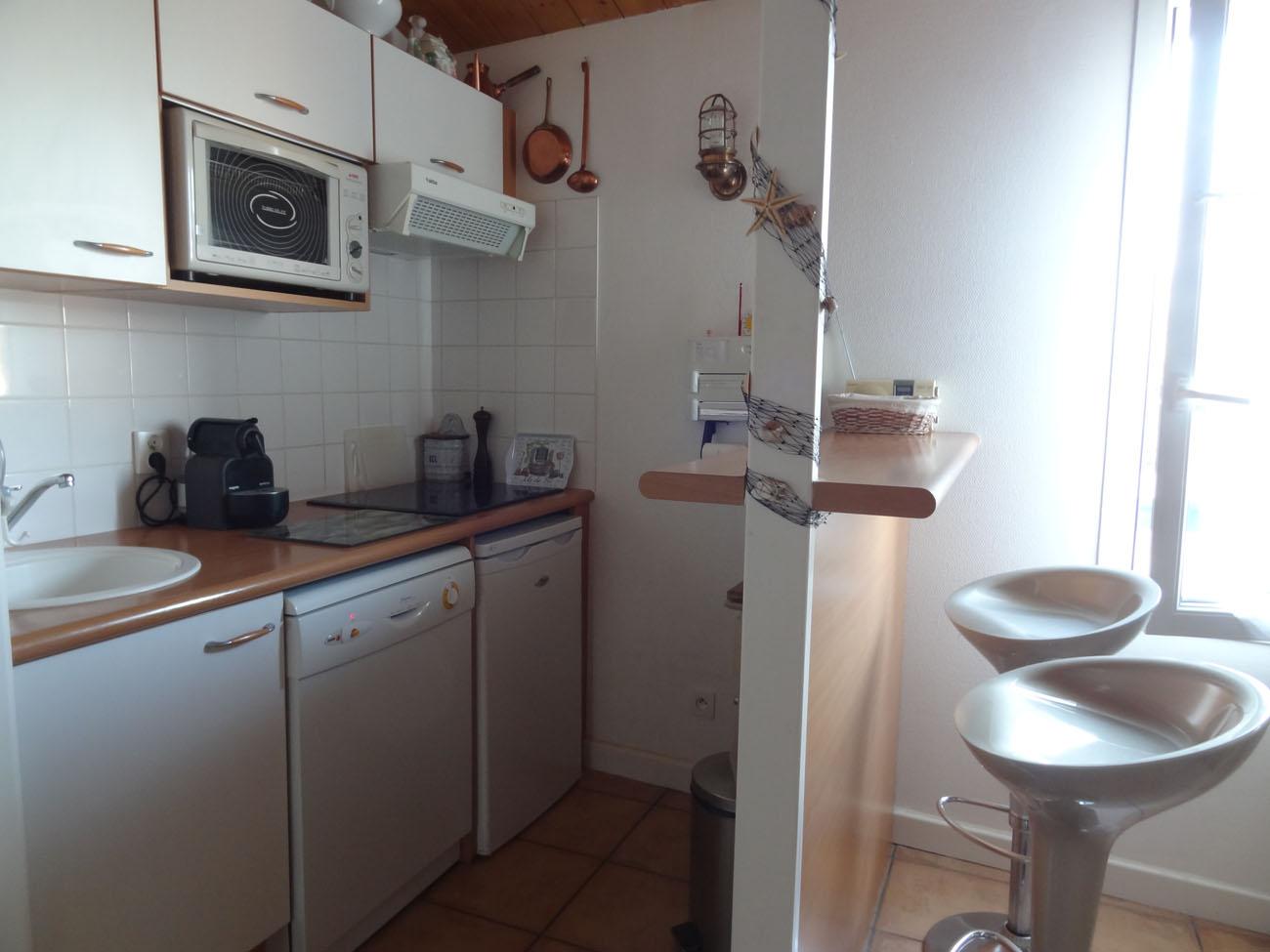 Location appartement Ile de Ré - Silène - Coin cuisine