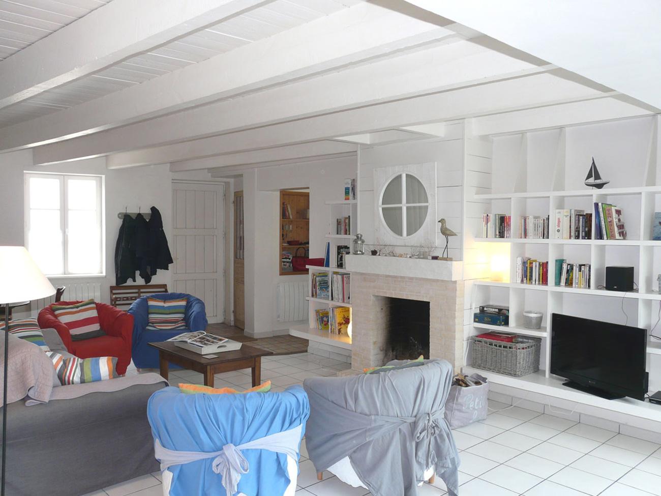 Location Maison Ile de Ré - Fleur-de-sel - Salon