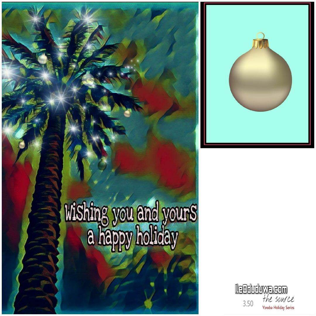 Yoruba Holiday Series Palm Tree Cards Christmas And New Year
