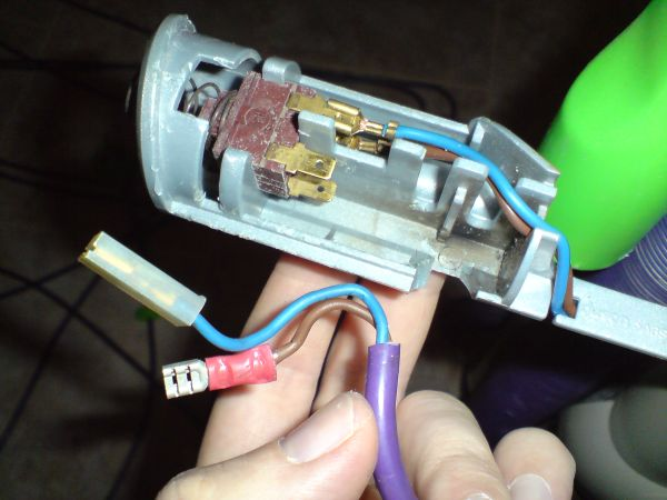 repairing removing the cable switch on a dyson dc04 or similar cut off the bad part of cable some snips