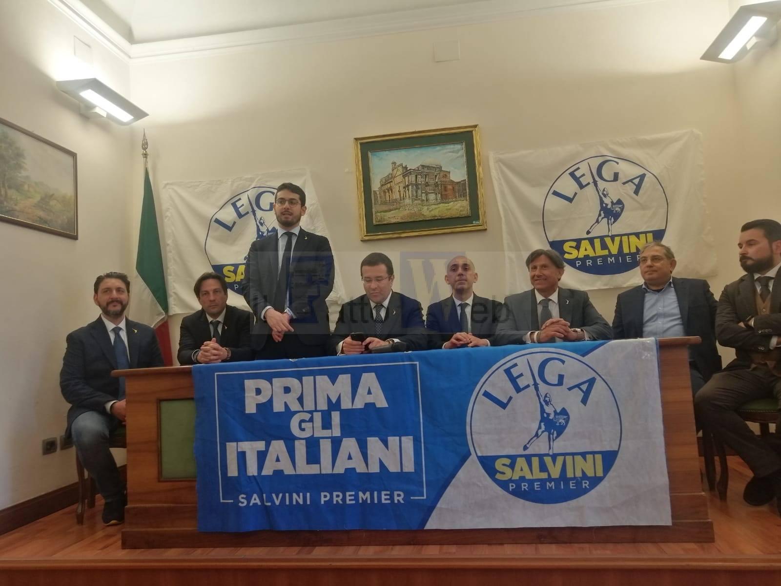 LA LEGA DI MATTEO SALVINI ACCOGLIE IL CONSIGLIERE COMUNALE DI CATANIA ALESSANDRO MESSINA
