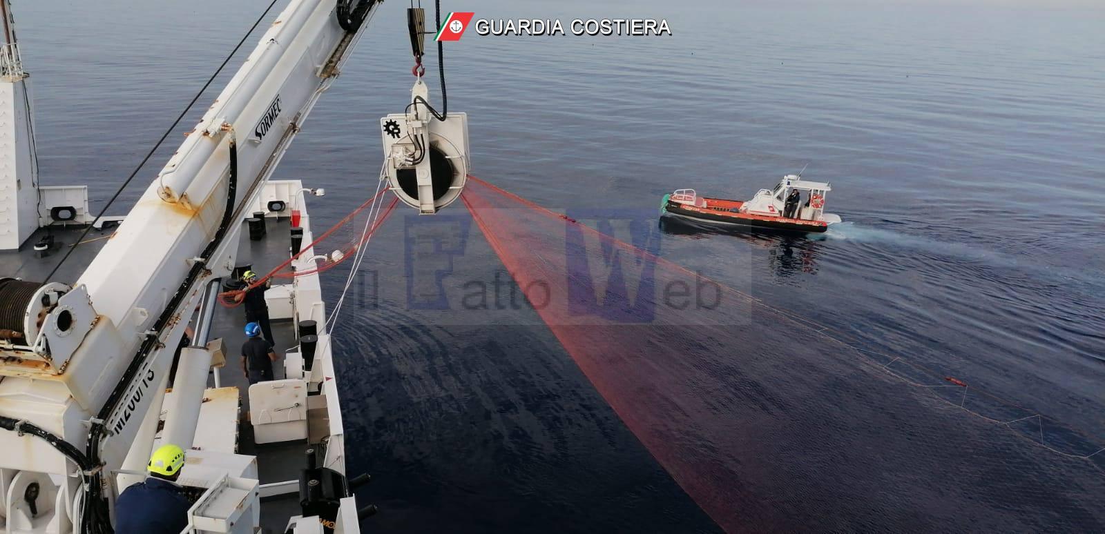 Contrasto alla pesca illegale: operazione della Guardia Costiera a largo delle isole Eolie