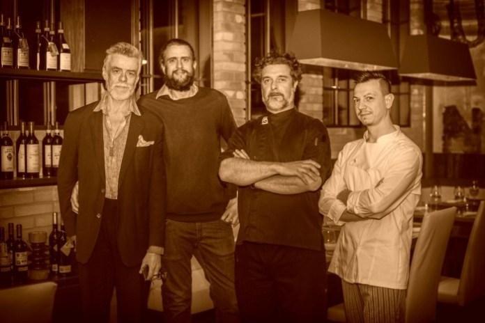 Gelasio Gaetani Lovatelli, Lapo Gaetani Lovatelli, lo chef Francesco Pasquini e il pizzaiolo Angelo De Cristofaro