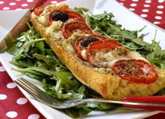 baguette vegetariana