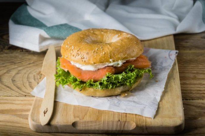 hamburger salmone