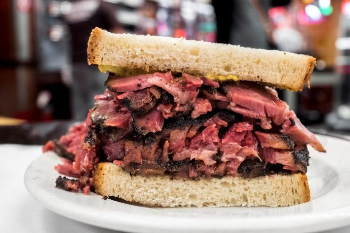 pastrami Katz's Delicatessen new york