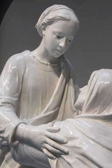 La Visitazione_Volto di Maria dopo il restauro, Opificio delle Pietro Dure di Firenze
