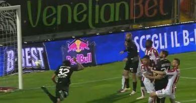 Diego Casasola in gol per il Trapani