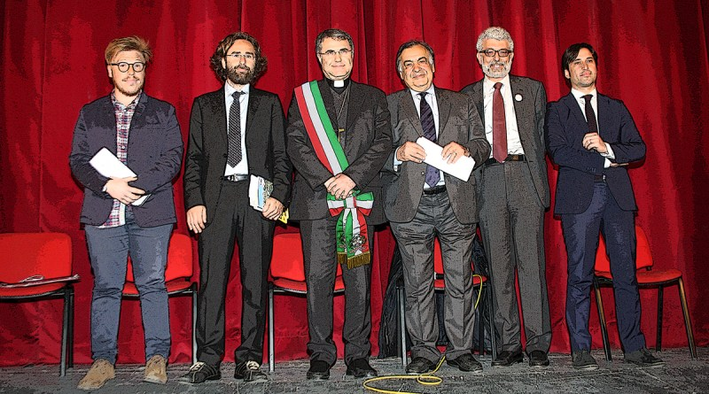 Lorefice con candidati sindaco Palermo 2017