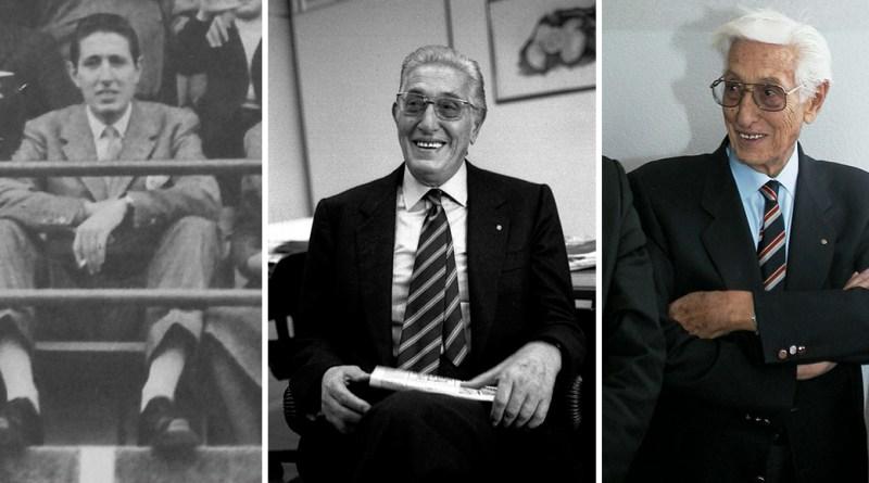 Tre immagini di Renzo Barbera, già presidente del Palermo Calcio