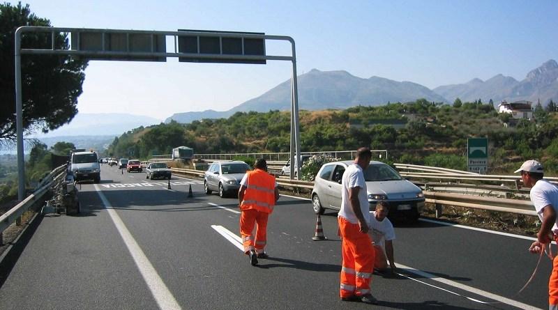 Lavori autostrada Palermo-Catania