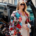 soprabito floreale Melania Trump al G7