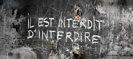Vietato vietare, uno degli slogan del Maggio francese del 1968