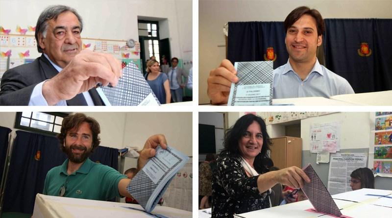 Candidati sindaco di Paermo al voto