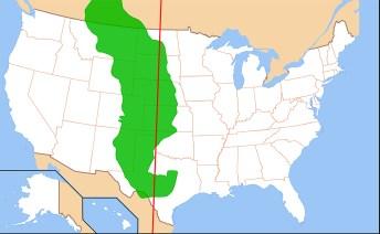 Il territorio delle grandi pianure a est delle Montagne Rocciose