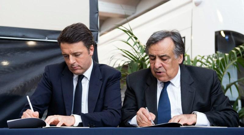 Matteo Renzi e Leoluca Orlando