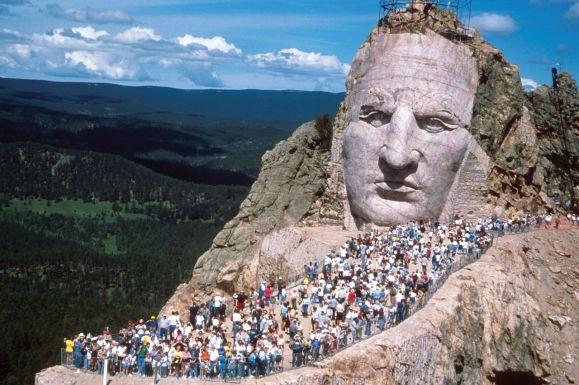 Il Crazy Horse Memorial, nelle Black Hils