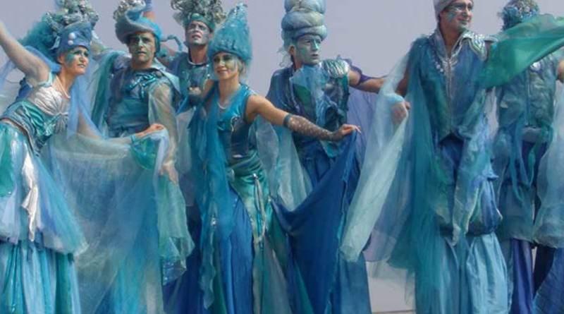 Teatro del Fuoco, sfilata animali marini