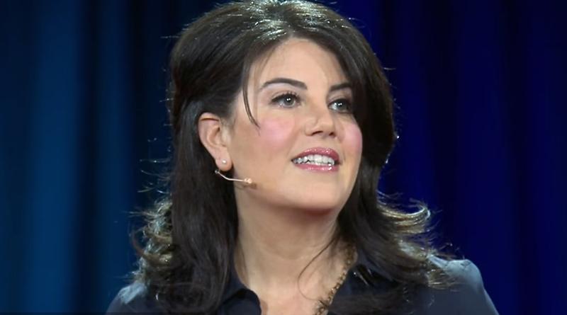 Monica Lewinsky, divenuta celebre per la sua relazione con l'ex-presidente USA Bill Clinton ( scandalo Sexgate )