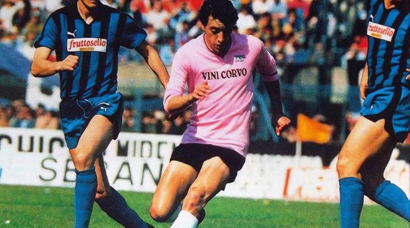 Giampaolo Montesano con la maglia del Palermo calcio