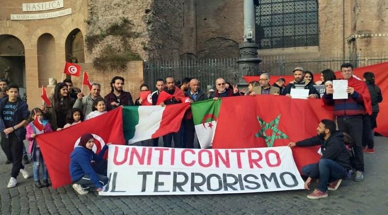 Manifestazione interculturale contro il terrorismo a Roma