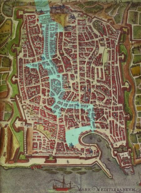Luoghi di Palermo colpiti da alluvione 1557