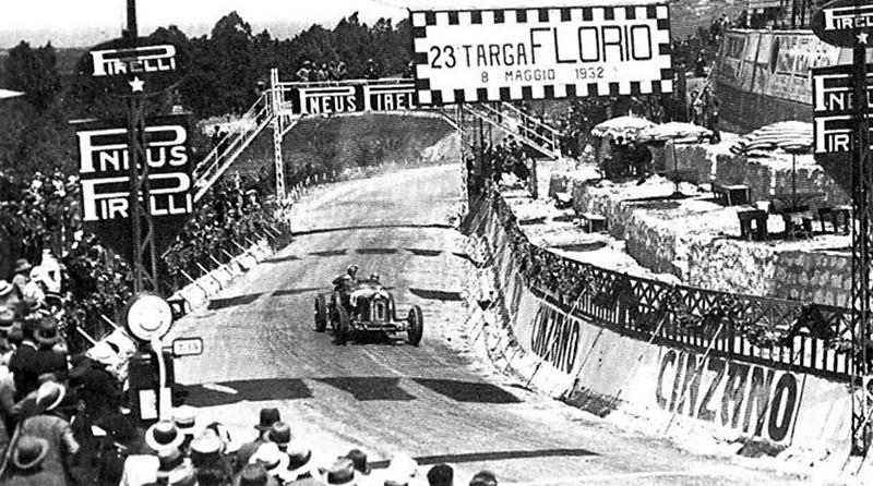 Tazio Nuvolari alla Targa Florio del 1932