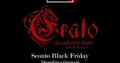 È Black Friday anche all'Accademia Erato