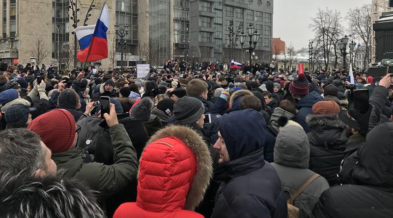 Manifestazione contro arresto Navalny