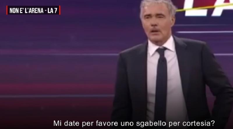Malore in diretta Tv per Massimo Giletti
