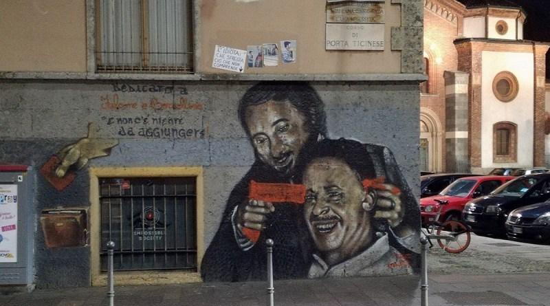 Sfregiato il murales dedicato ai giudici Giovanni Falcone e Paolo Borsellino a Milano. Era stato realizzato dal writer siciliano Tunus nel 2013