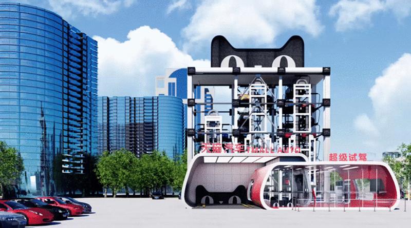 Distributore automatico di automobili in Cina