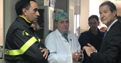 Catania, Musumeci fa visita ai due pompieri rimasti feriti nell'esplosione
