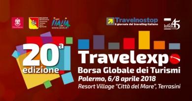 Tutto pronto per il XX Travelexpo, dal 6 all'8 aprile all'interno del Resort Città del Mare. Ecco tutti gli appuntamenti della manifestazione