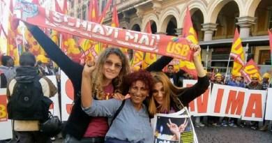 Sciopero generale proclamato dall'Unione Sindacale di Base Usb per il prossimo 8 marzo in risposta all'appello dell'associazione Non una di meno
