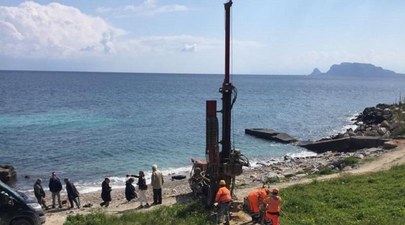 Sono stati avviati oggi i lavori di carotaggio per la caratterizzazione dei materiali che dovranno essere rimossi e dragati a Vergine Maria per ampliare la fruibilità del litorale a Palermo